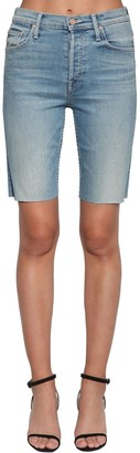 Mother Insider Frayed Cotton Denim Shorts