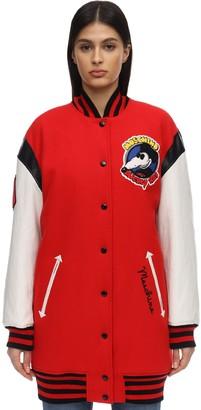Moschino Oversize Wool Blend Varsity Jacket
