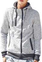 URBANFIND Men's Slim Fit Double Zipper Hooded Jackets Casual Sweatshirts US M