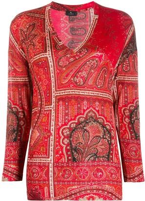 Etro paisley print long-sleeved T-shirt