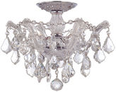 Crystorama Ryley 3-Light Semi-Flush Mount, Crystal