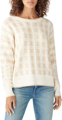 Lucky Brand Snowflake Cotton Blend Sweater
