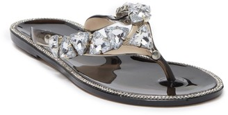 Wild Diva Lounge Joanie Crystal Cluster Thong Sandal