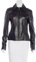 Dolce & Gabbana Notch-Collar Leather Jacket