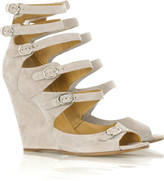 Chloé Suede multi strap wedges