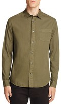 Vince Garment Washed Slim Fit Button Down Shirt
