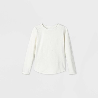 Cat & Jack Girls' Long Sleeve Sparkle T-Shirt - Cat & JackTM