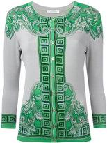Versace neon print buttoned cardigan - women - Silk/Spandex/Elastane - 40