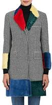 Thom Browne Women's Chesterfield Fur-Trimmed Houndstooth Wool Coat