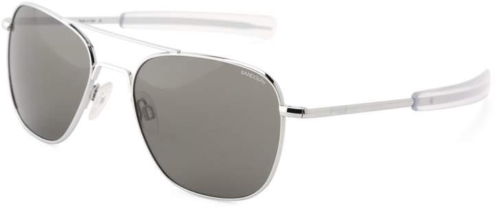 Randolph Engineering Randolph Aviator Square Sunglasses, 52, 23K Gold Plated, Bayonet, Gray Polarized Lenses