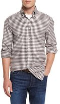 Brunello Cucinelli Panama Check Long-Sleeve Sport Shirt, Brown