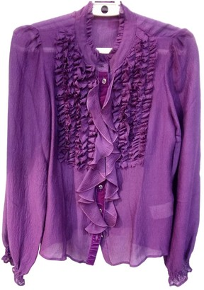 Etro Purple Silk Top for Women