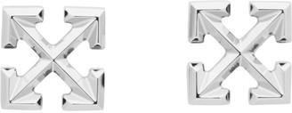 Off-White Silver Small Arrows Earrings