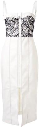 Dion Lee Lace Column Bustier dress