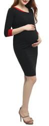 Kimi and Kai Nova Asymmetrical Neck Maternity Dress