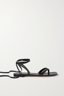 Gianvito Rossi Lace-up Leather Sandals