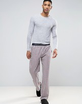 French Connection Cotton Check Lounge Pants