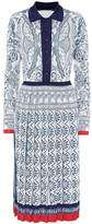 Mary Katrantzou Knitted brocade dress
