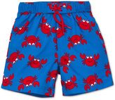 Little Me Crab-Print Swim Trunks, Baby Boys (0-24 months)