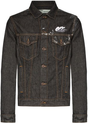 Off-White Arrow Logo Denim Jacket