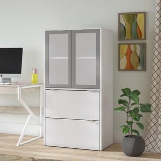 Brayden Studio Prattsburgh 2 Drawer Vertical Filing Cabinet Color: White