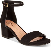 XOXO Horatio Two-Piece Block-Heel Sandals Women's Shoes