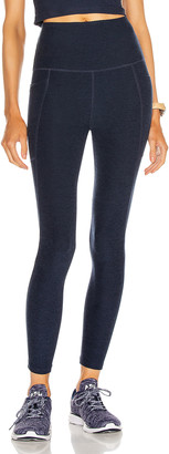 Beyond Yoga Spacedye Out Of Pocket High Waisted Midi Legging in Nocturnal Navy   FWRD