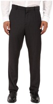 Perry Ellis Regular Fit Tonal Micro Check Flat Front Pants