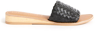 BEACH BY MATISSE Black Pipeline Woven Wedge Slide Sandal Black 6
