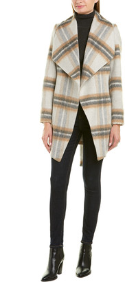 Tahari Belted Wrap Wool-Blend Coat