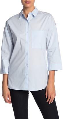 Vertigo Floral Colorblock Paneled Shirt
