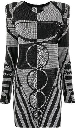 Balmain Rhinestone-Embellished Short Dress