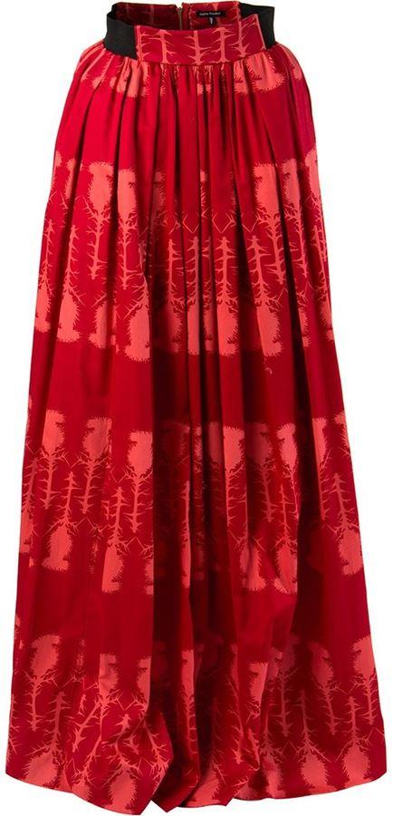 Sophie Theallet thistle print skirt