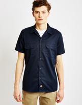 Dickies Short Sleeve Slim Shirt Navy