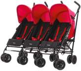 O Baby Obaby Mercury Triple Stoller - Black And Red