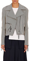 Public School Women's Rodney Checked Cotton-Blend Biker Jacket