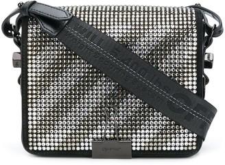 Off-White crystal Binder Clip bag