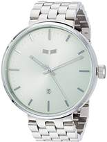 Vestal 'Roosevelt Metal' Quartz Stainless Steel Dress Watch, Color:Silver-Toned (Model: ROS3M008)