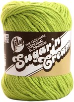 Lily Sugar'n Cream Yarn, Solids, Hot Green, Single Ball