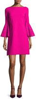 Chiara Boni La Petite Robe Bell-Sleeve Ponte A-Line Dress