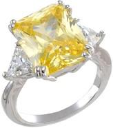 Kenneth Jay Lane Yellow Radiant Cut Ring