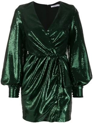 Amen sequin bishop sleeve cocktail dress