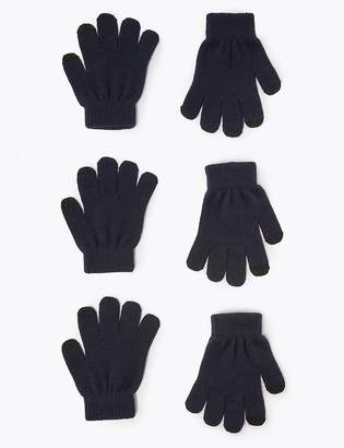 Marks and Spencer Kids' 3 Pack Magic Gloves