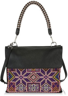 Etro Cross Point Embroidered Shoulder Bag