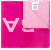 Balenciaga large logo blanket scarf - women - Cashmere/Wool - One Size