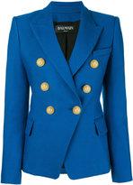 Balmain double breasted blazer - women - Cotton/Viscose - 42