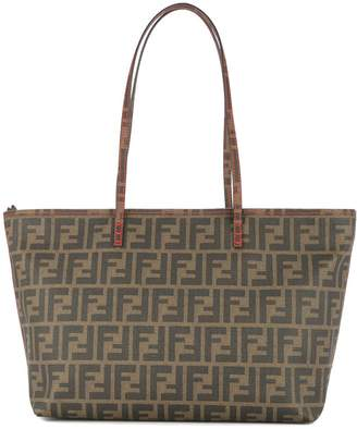 Fendi Pre-Owned Zucca pattern shoulder tote bag