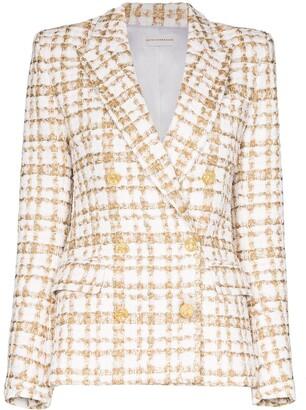 Faith Connexion Double-Breasted Tweed Blazer