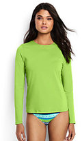 Classic Women's Petite Swim Tee Rash Guard-Limeade Green