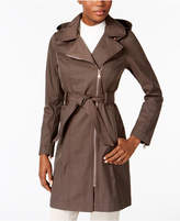 Vince Camuto Hooded Asymmetrical Raincoat, Created for Macy's
